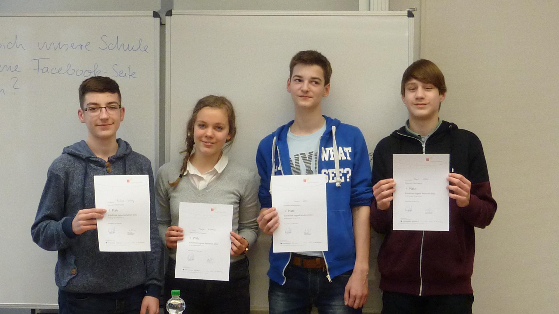 "Schulwettbewerb ""Jugend debattiert"" Sekundarstufe I"